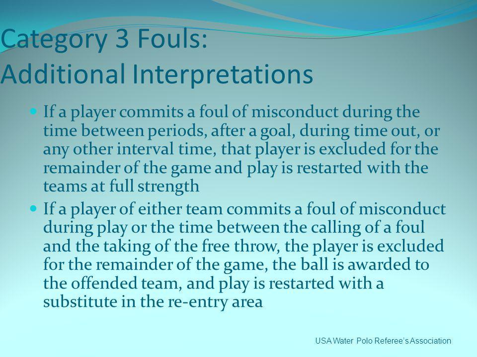 Category 3 Fouls: Additional Interpretations