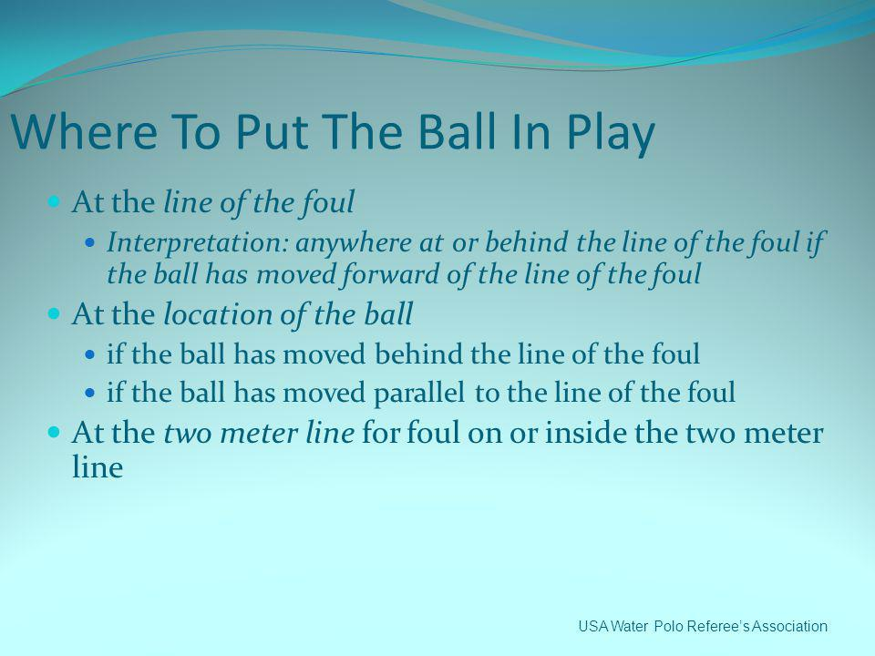 Where To Put The Ball In Play