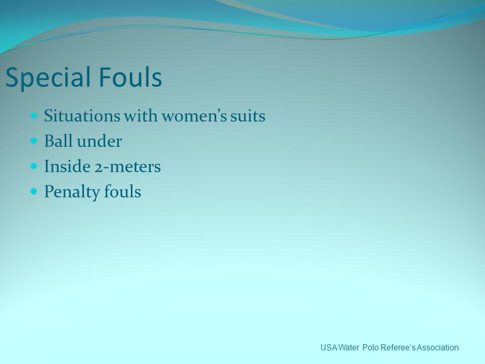 Special Fouls Situations with women's suits Ball under Inside 2-meters