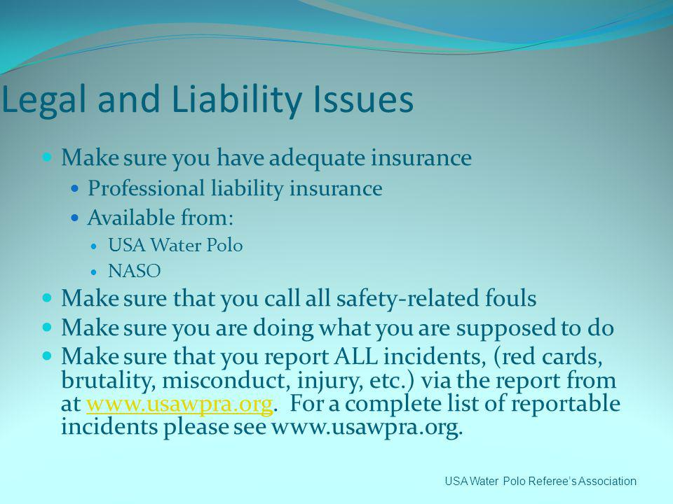 Legal and Liability Issues