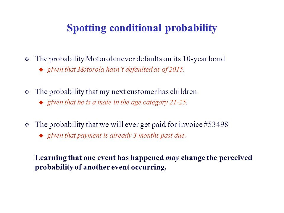 Spotting conditional probability