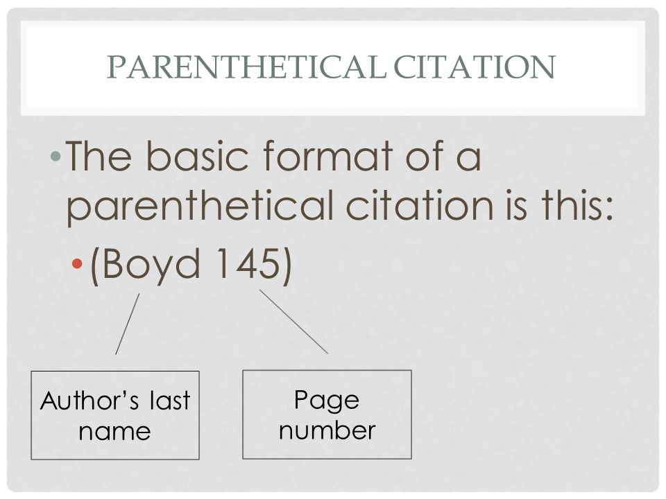 Parenthetical citation