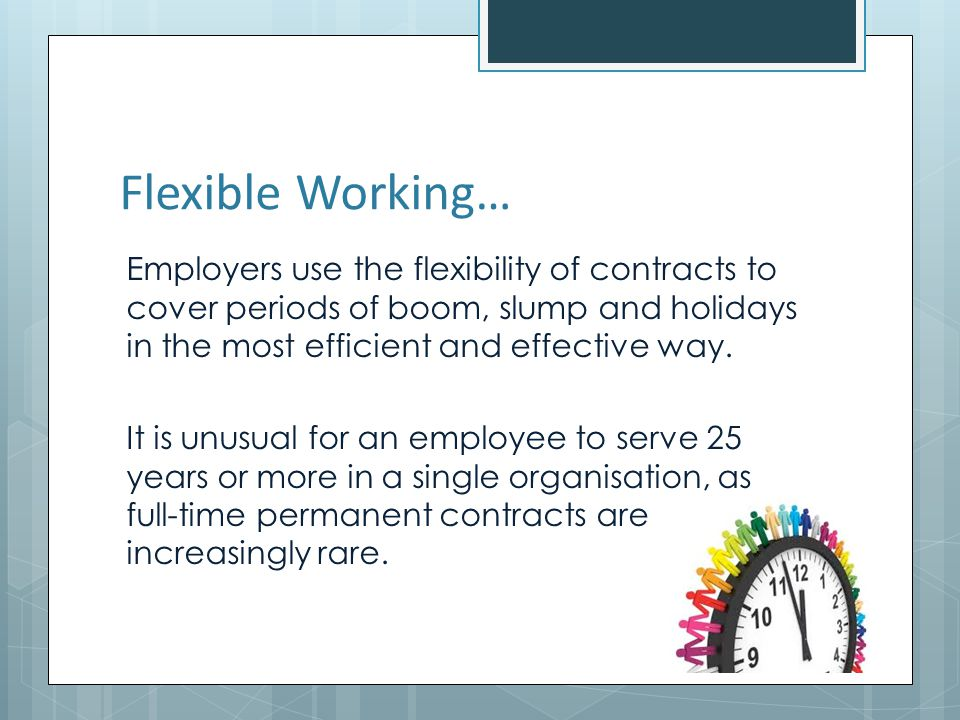 Flexible Working…