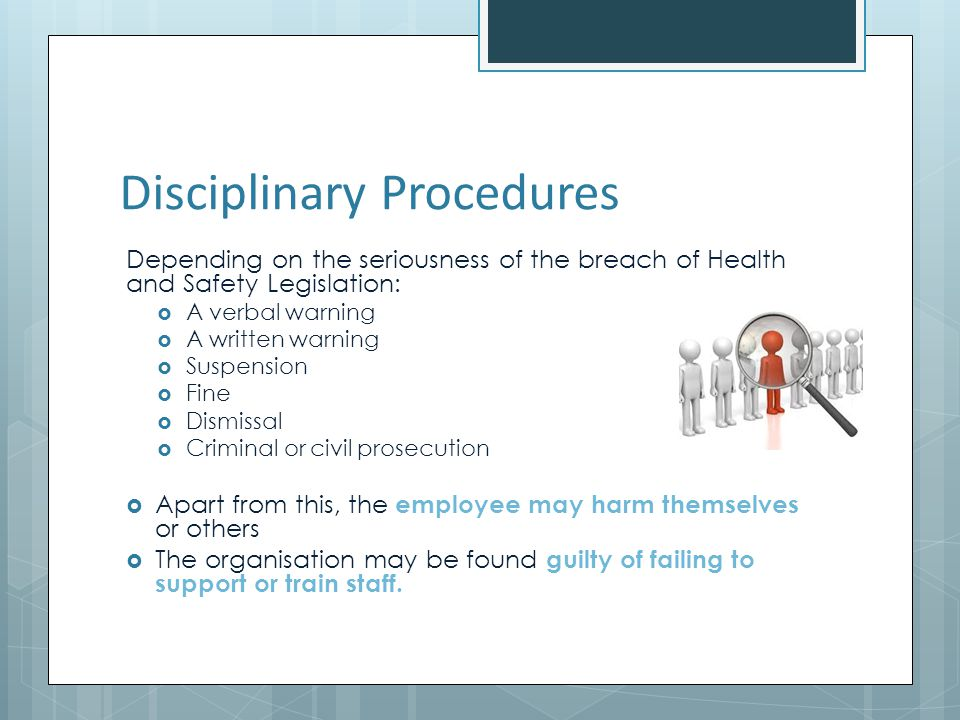 Disciplinary Procedures