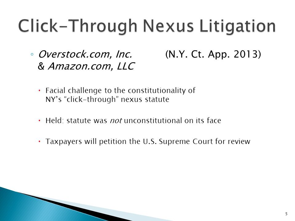 Click-Through Nexus Litigation
