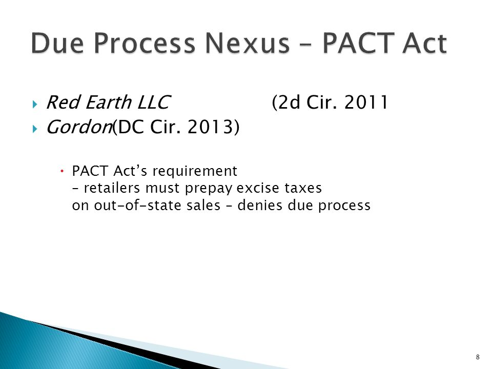 Due Process Nexus – PACT Act