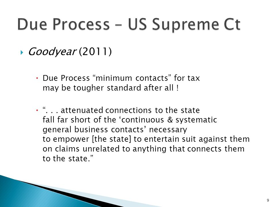 Due Process – US Supreme Ct