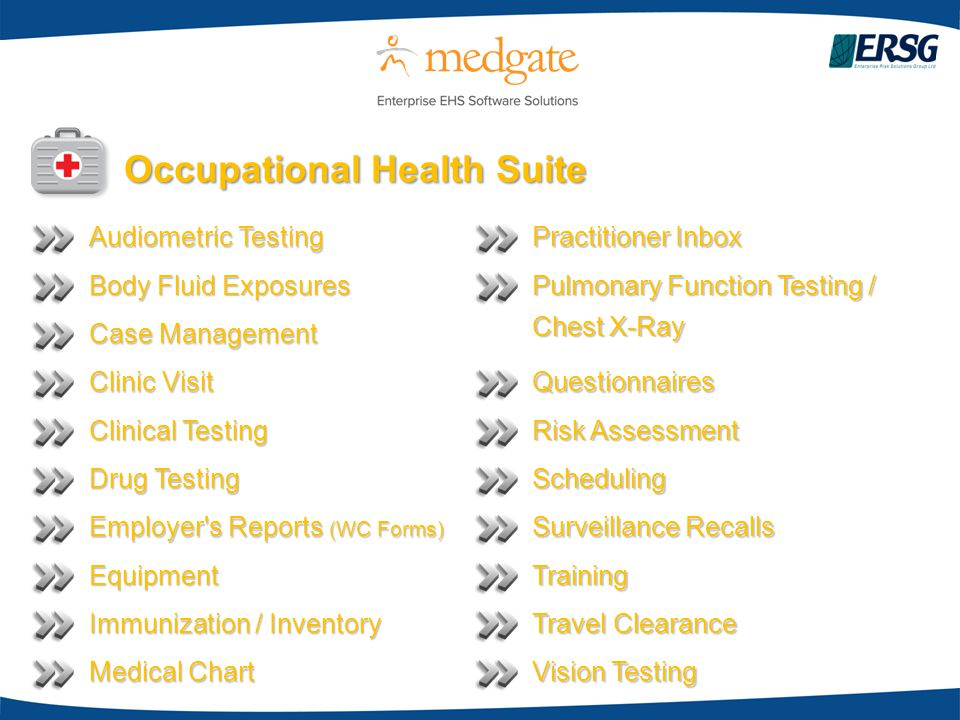 Occupational Health Suite