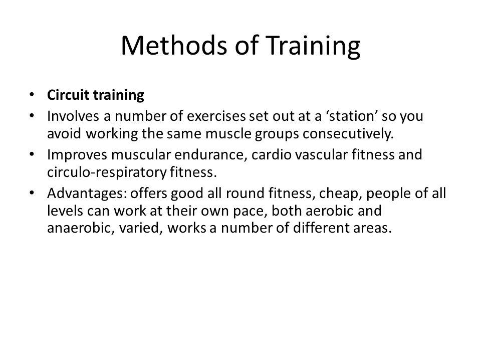 Methods of Training Circuit training