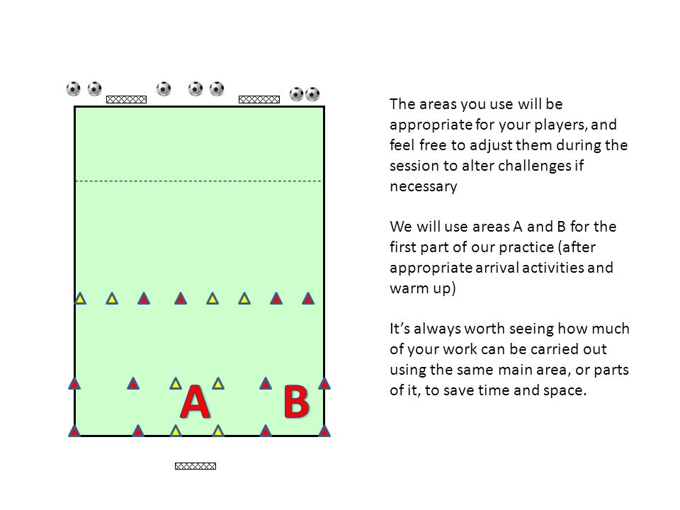 The areas you use will be appropriate for your players, and feel free to adjust them during the session to alter challenges if necessary