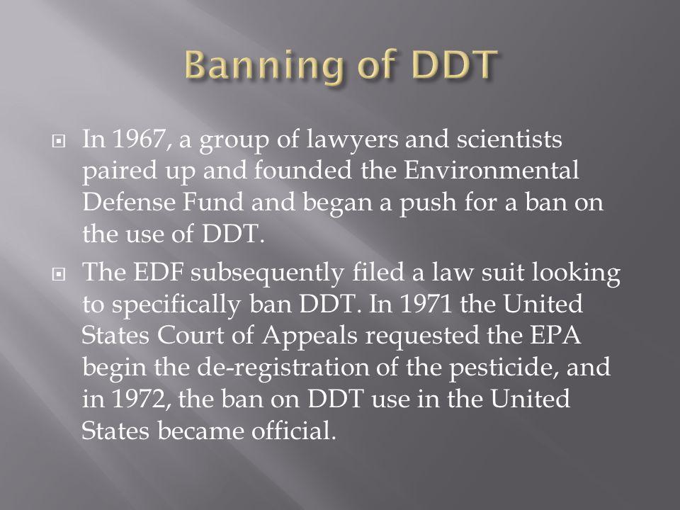 Banning of DDT