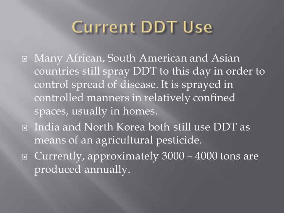 Current DDT Use