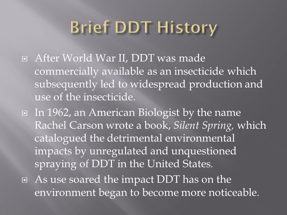 Brief DDT History