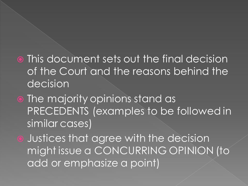 This document sets out the final decision of the Court and the reasons behind the decision