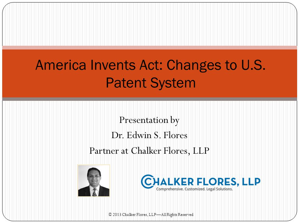 America Invents Act: Changes to U.S. Patent System
