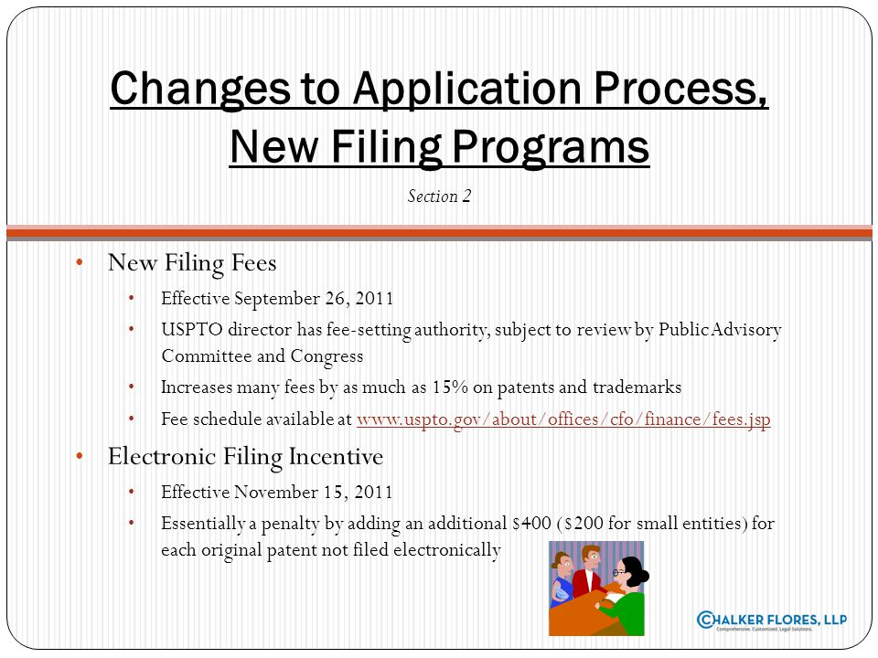 Changes to Application Process, New Filing Programs