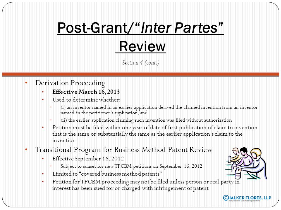 Post-Grant/ Inter Partes Review