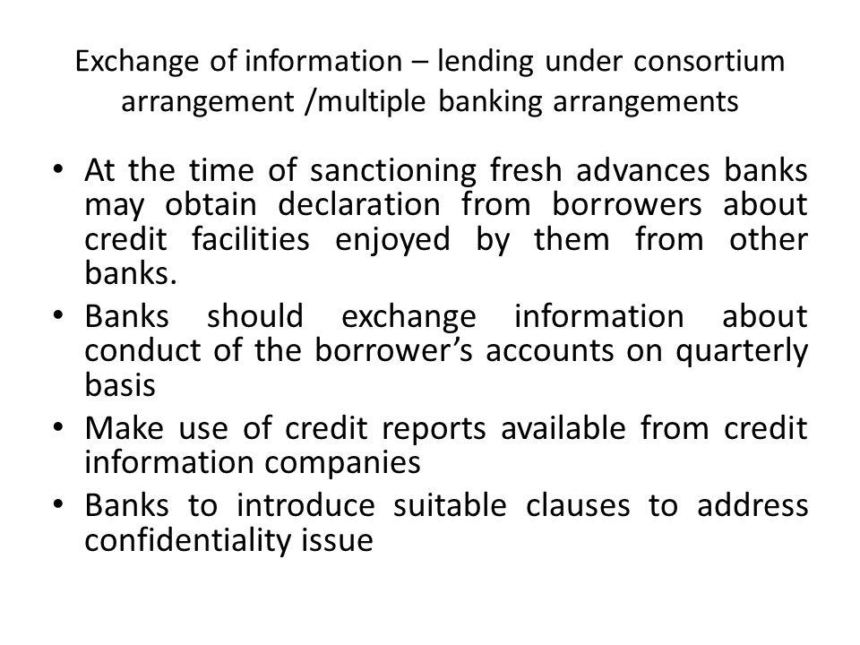 Make use of credit reports available from credit information companies