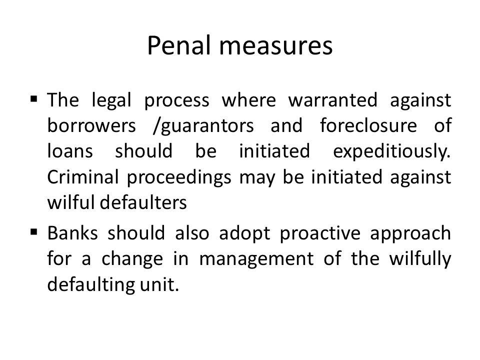 Penal measures