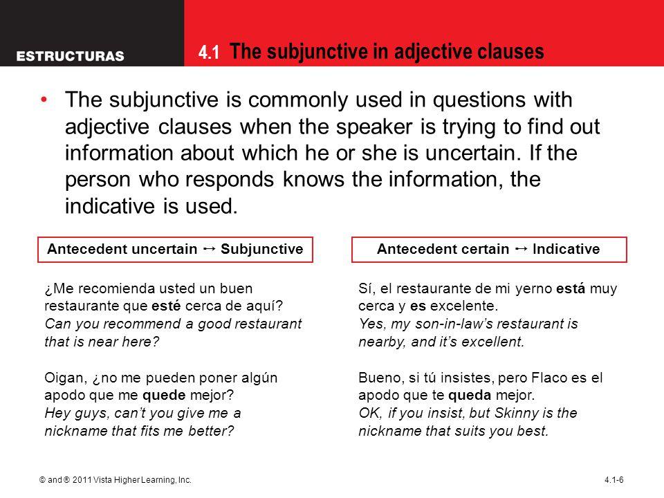 Antecedent uncertain ➙ Subjunctive