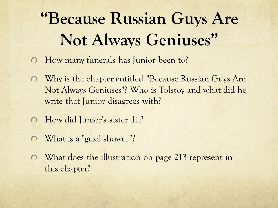 Because Russian Guys Are Not Always Geniuses