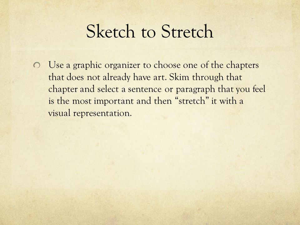 Sketch to Stretch