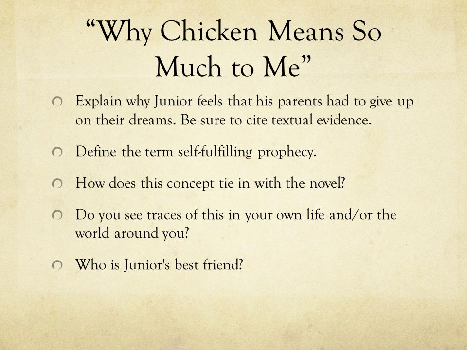 Why Chicken Means So Much to Me