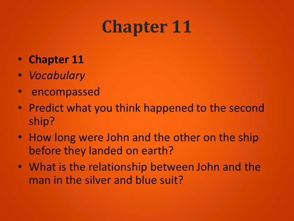 Chapter 11 Chapter 11 Vocabulary encompassed