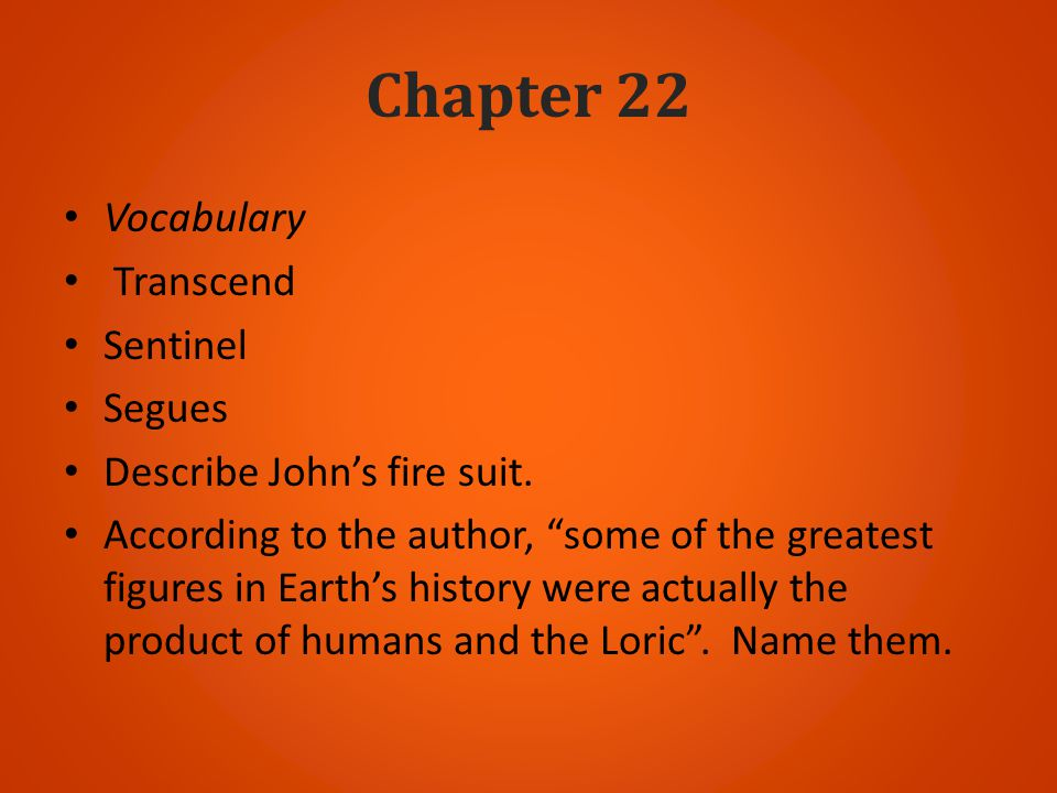 Chapter 22 Vocabulary Transcend Sentinel Segues