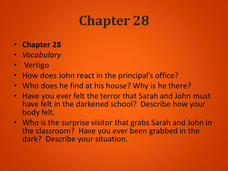 Chapter 28 Chapter 28 Vocabulary Vertigo