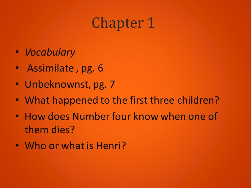 Chapter 1 Vocabulary Assimilate , pg. 6 Unbeknownst, pg. 7