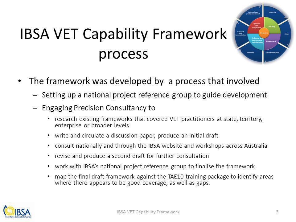 IBSA VET Capability Framework process