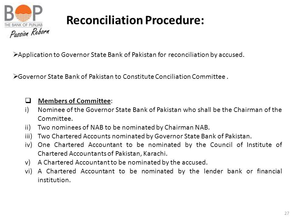 Reconciliation Procedure: