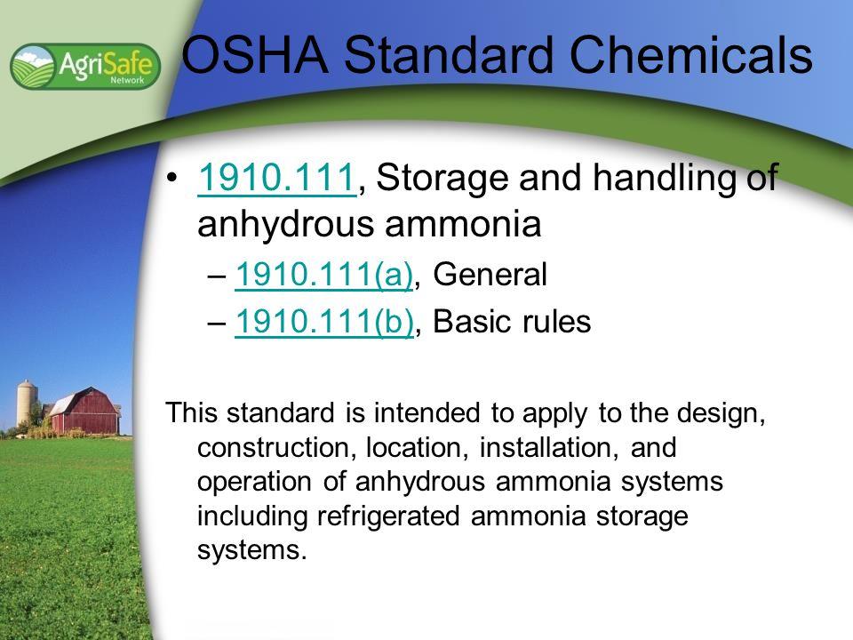 OSHA Standard Chemicals