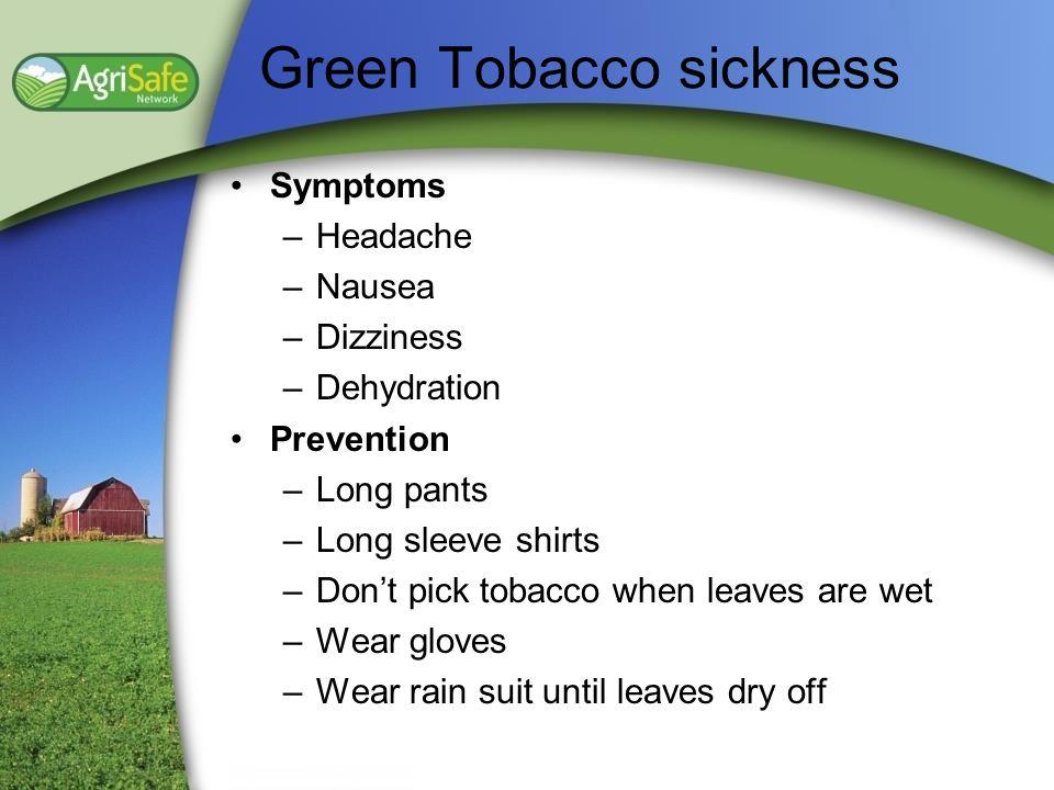 Green Tobacco sickness