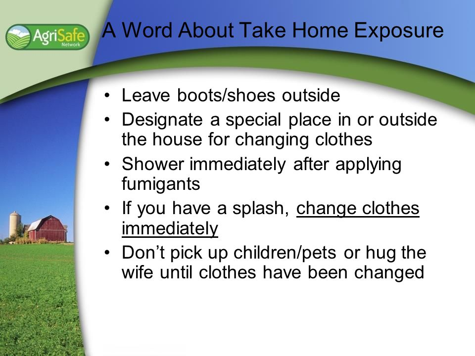 A Word About Take Home Exposure