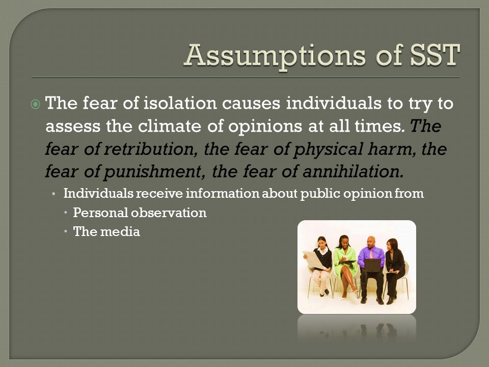 Assumptions of SST