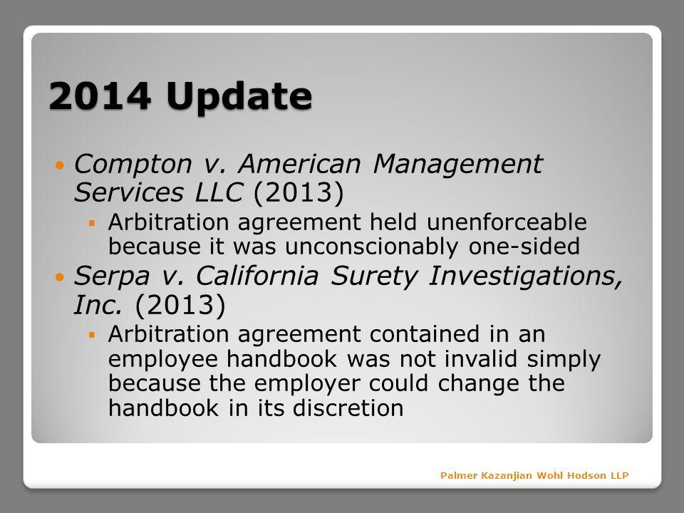 2014 Update Compton v. American Management Services LLC (2013)