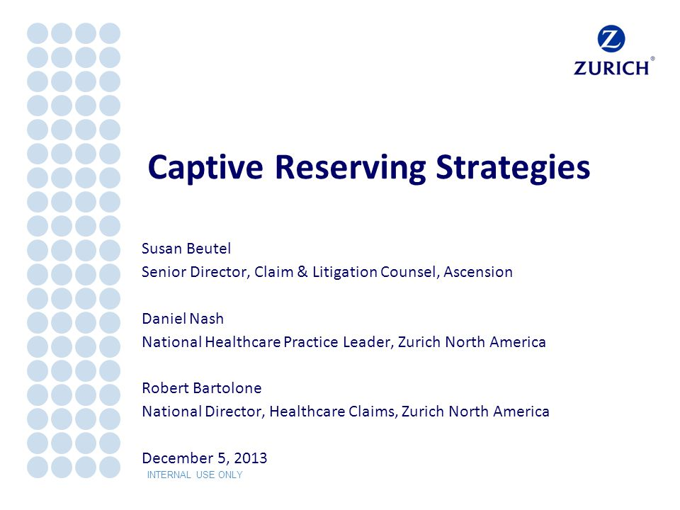 Captive Reserving Strategies