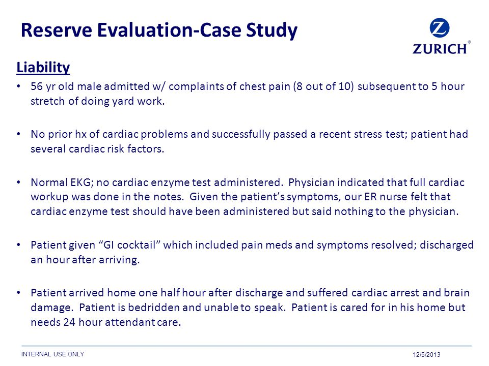 Reserve Evaluation-Case Study