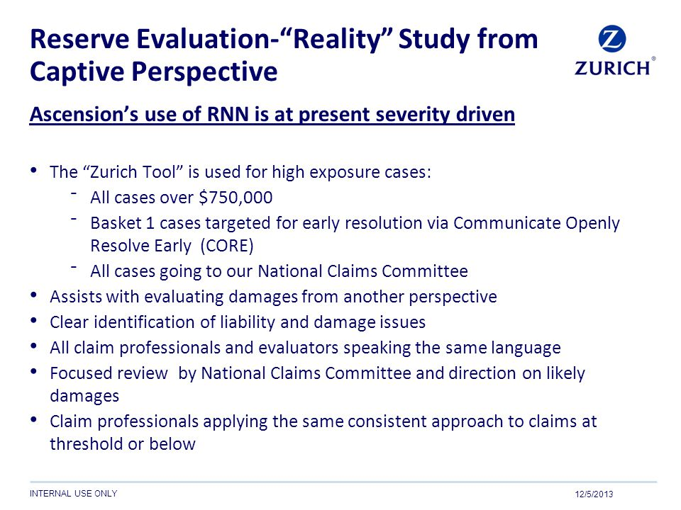 Reserve Evaluation- Reality Study from Captive Perspective