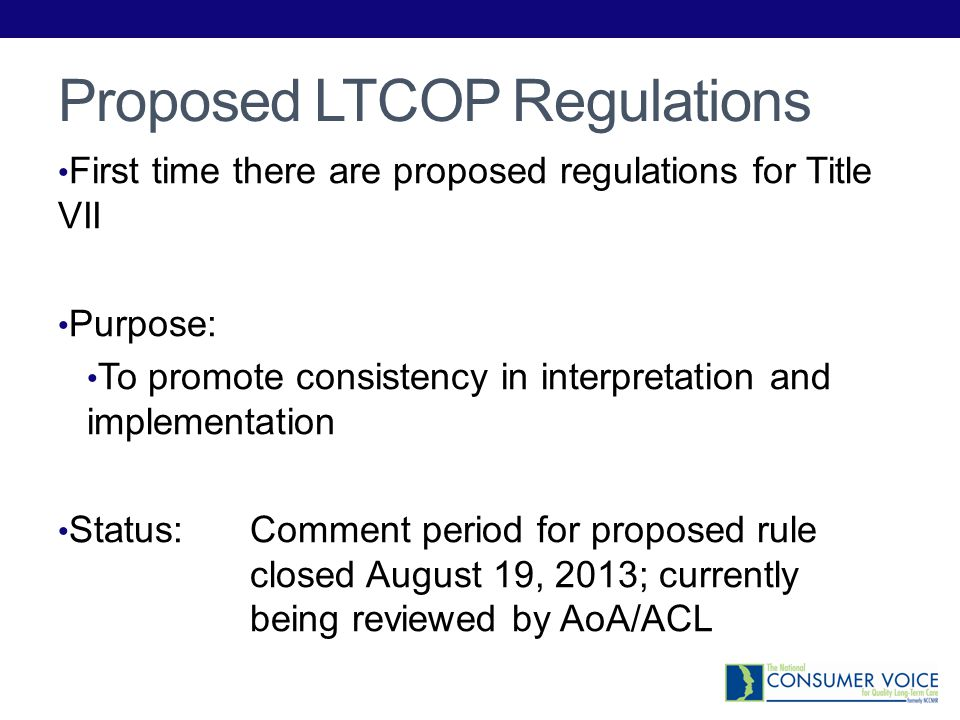 Proposed LTCOP Regulations