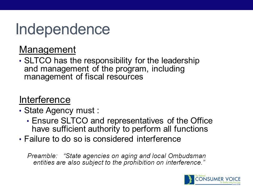 Independence Management Interference