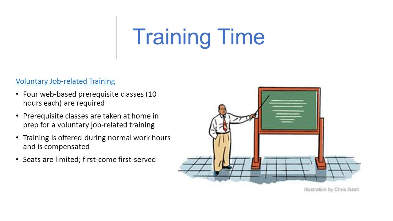 Training Time Voluntary Job-related Training