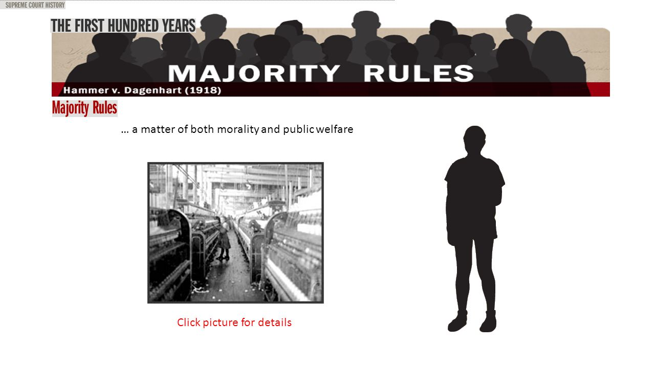 … a matter of both morality and public welfare