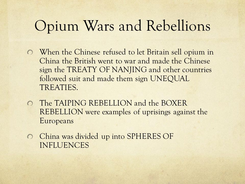 Opium Wars and Rebellions