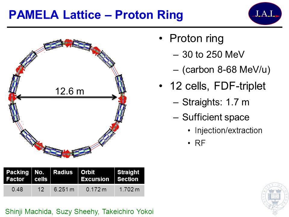PAMELA Lattice – Proton Ring