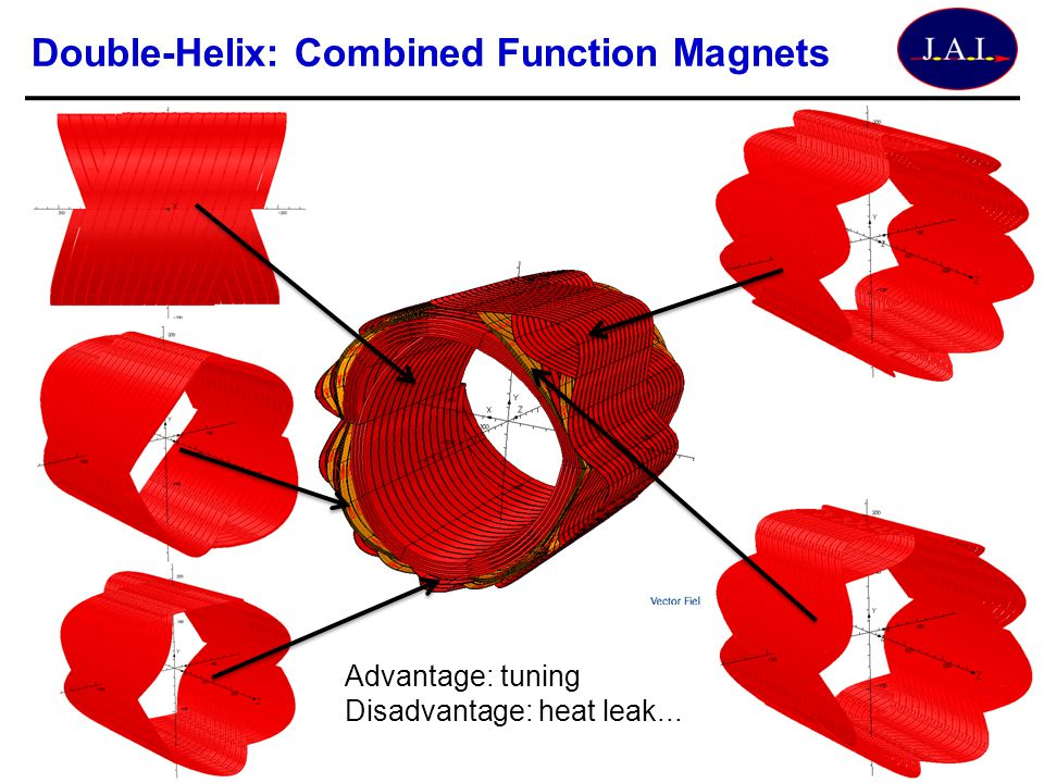 Double-Helix: Combined Function Magnets