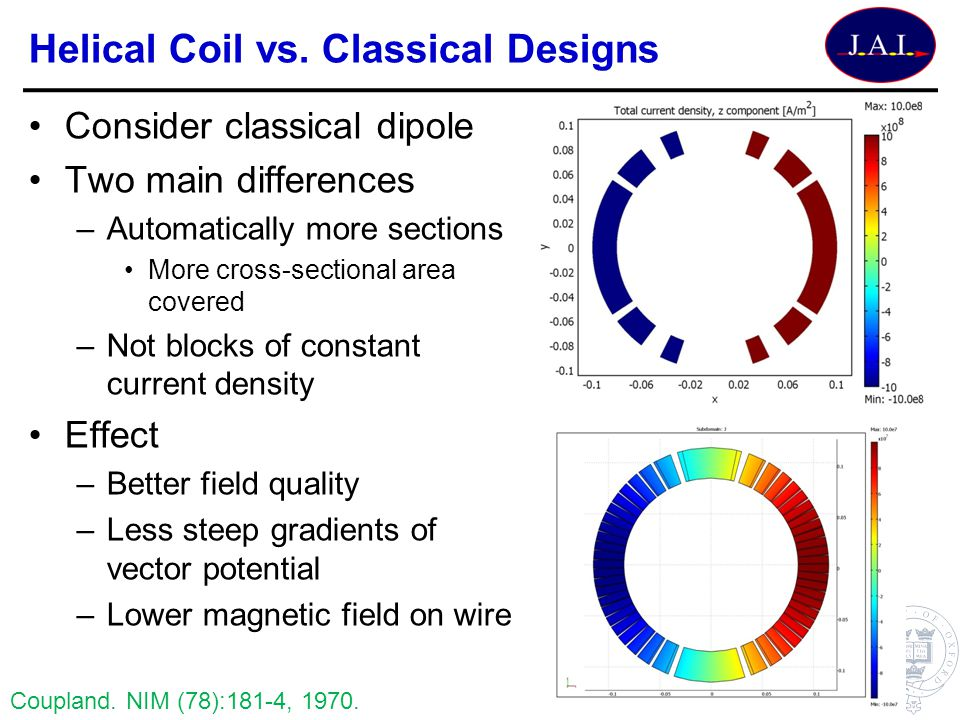 Helical Coil vs. Classical Designs