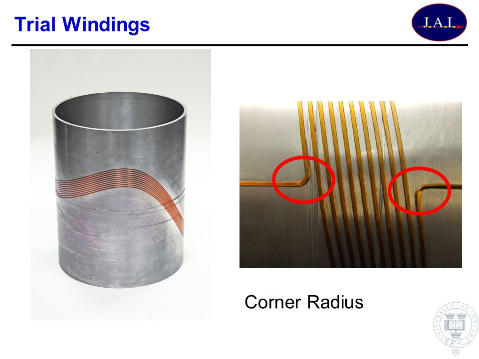 Trial Windings Corner Radius